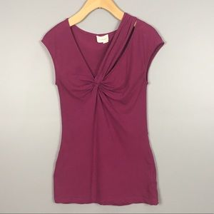 Anthropologie Deletta Knot Front Asymmetrical Top